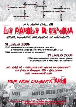 Le parole di Genova